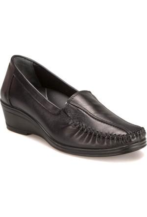 Polaris 5 Nokta 62.107538.Z Siyah Kadın Deri Ayakkabı