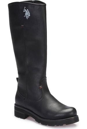 U.S. Polo Assn. A3376459 Siyah Kadın Çizme