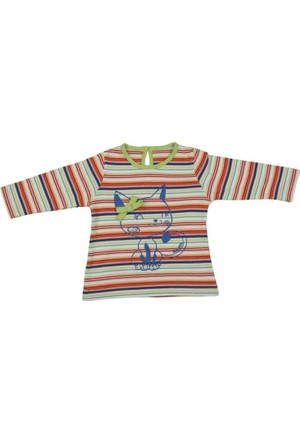 Bebepan 8631 Jeans Ringel Sweatshirt Orjinal Renk 6-9 Ay