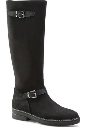 Cabani Tokalı Günlük Kadın Çizme Siyah Nubuk