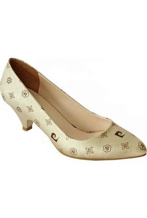 Pierre Cardin 45336 Sivri Burun Kadın Ayakkabı Altın