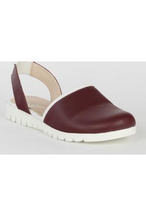 Markazen Bayan Sandalet Ayakkabı - Bordo