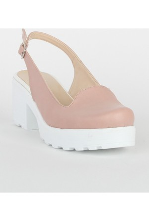 Markazen Tokalı Sandalet Ayakkabı - Pembe