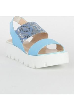 Markazen Bantlı Sandalet - Mavi