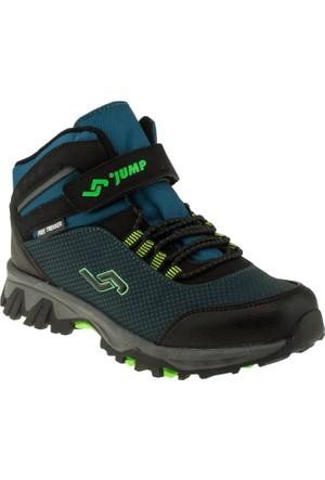Jump 14193 Flex Bağlı Tek Cırt Yeşil Çocuk Spor Ayakkabı