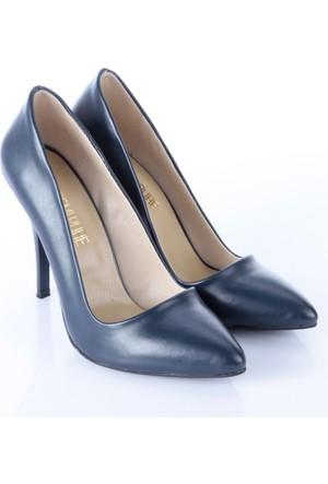 Shoes&Moda Kadın Stıletto Lacivert