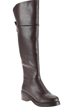 Polaris 52.308072.Z Kahverengi Kadın Çizme