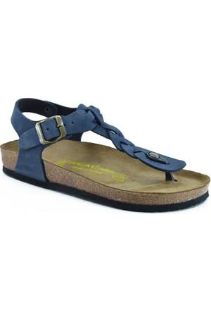 Real Natura 125-Corydella Lacivert Nubuk Kadın Sandalet