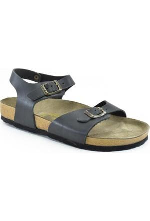 Real Natura 123-Venessa Siyah Kadın Sandalet