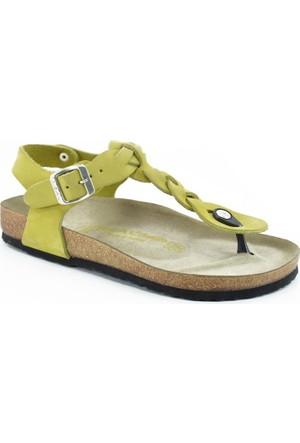 Real Natura 125-Corydella Yeşil Nubuk Kadın Sandalet