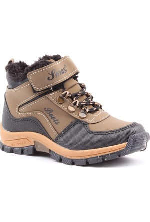 Smax 039 İçi Termal Kürklü Erkek Çocuk Bot Ayakkabı