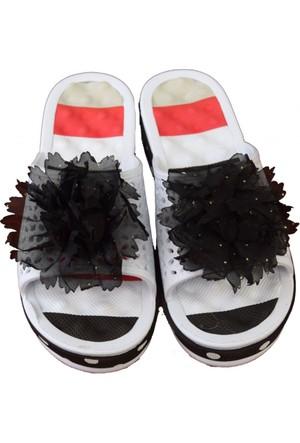Sonimix Bayan Masaj Terlik Beyaz Siyah