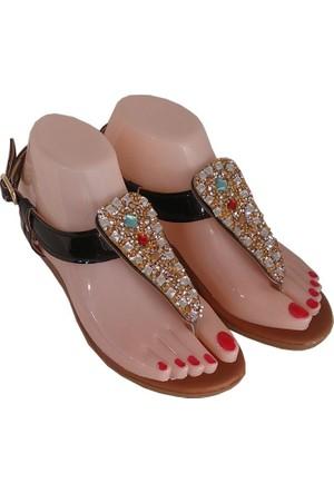 Berk Ayakkabı, Siyah Taşlı Sandalet