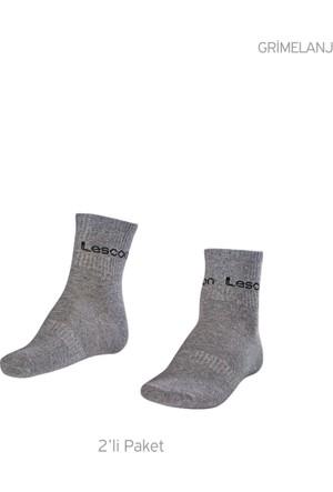 Lescon La-2181 Grimelanj Erkek Tenis Çorap Kısa 36-40 2'Li