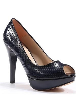 Topuz Platform Topuk Önü Açık Bayan Ayakkabı