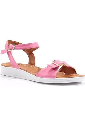 Cesur Günlük Kayışlı Düz Bayan Ayakkabı Sandalet
