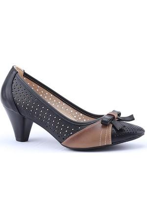 Lodos 2752 Günlük Lazer Kesim Fındık Bayan Topuklu Ayakkabı