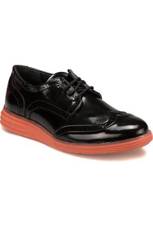 Jj-Stiller 61123-1 M 6693 Siyah Turuncu Erkek Ayakkabı