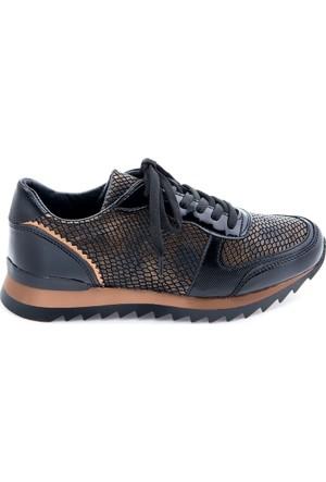 Modabuymus Siyah Rose Kombinli Kadın Spor Ayakkabı