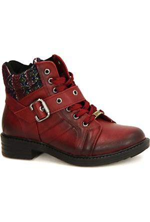 Coton 1350 Stil Fermuarlı Termo Taban Kadın Bot Ayakkabı
