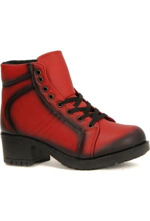 Lucio Gabbani 800 Orta Cilt Bağcıklı Fermuarlı Bayan Bot Ayakkabı