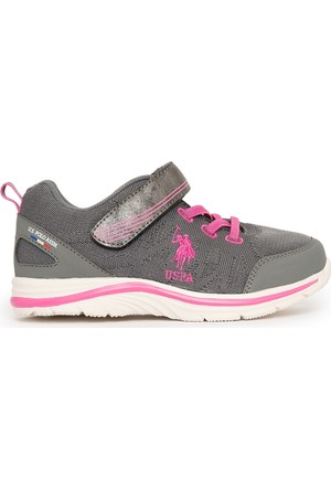U.S. Polo Assn. Kız Çocuk K7Uspk1019 Spor Ayakkabı Gri