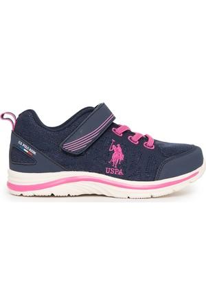 U.S. Polo Assn. Kız Çocuk K7Uspk1019 Spor Ayakkabı Lacivert