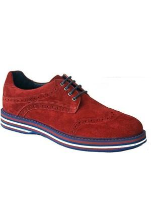 Komcero 2378 Deri Erkek Ayakkabı Bordo