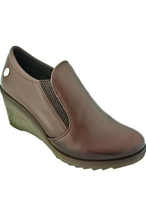 Mammamia D16Ka-290 Deri Kadın Günlük Ayakkabı Taba