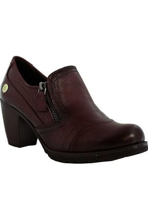 Mammamia D17Ka-3035 Deri Kadın Ayakkabı Bordo