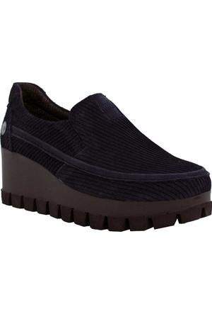Mammamia D17Ka-705 Deri Kadın Ayakkabı Lacivert