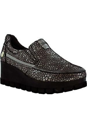 Mammamia D17Ka-705 Deri Kadın Ayakkabı Gümüş