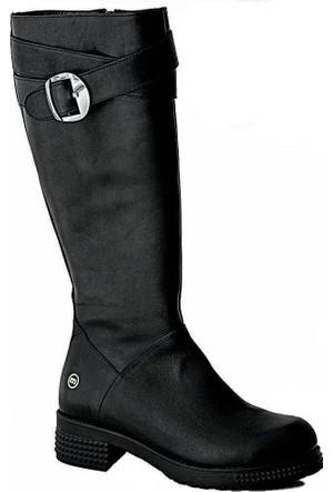 Mammamia D15Kc-2100 Deri Kadın Çizme Siyah