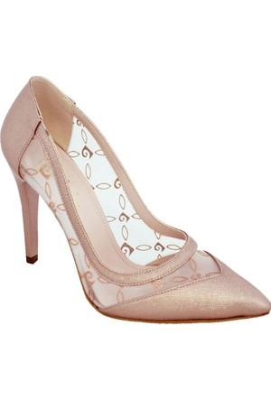 Pierre Cardin 1022 Topuklu Tüllü Kadın Ayakkabı Somon