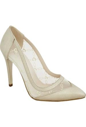 Pierre Cardin 1022 Topuklu Tüllü Kadın Ayakkabı Altın