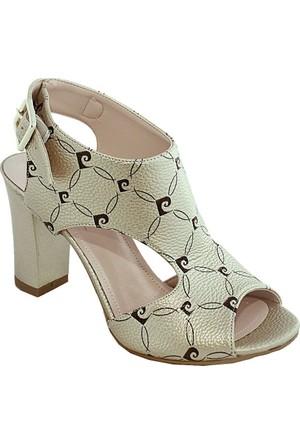 Pierre Cardin 1026 Topuklu Kadın Ayakkabı Altın