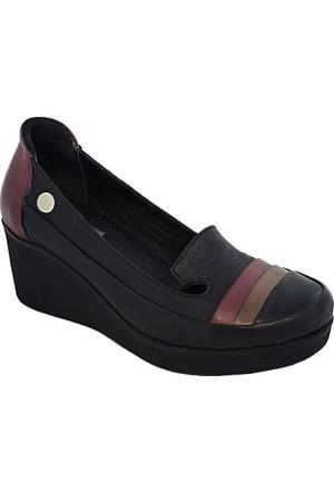 Mammamia D17Ya-235 Kadın Dolgu Topuk Ayakkabı Siyah
