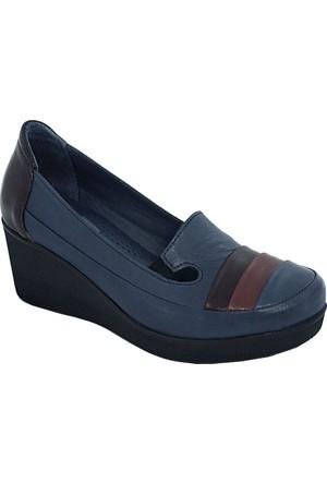 Mammamia D17Ya-235 Kadın Dolgu Topuk Ayakkabı Mavi