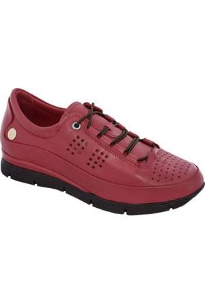 Mammamia D17Ya-920 Deri Kadın Ayakkabı Kırmızı