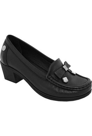 Mammamia D17Ya-280 Deri Kadın Günlük Ayakkabı Siyah