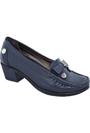 Mammamia D17Ya-280 Deri Kadın Günlük Ayakkabı Lacivert