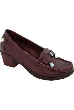Mammamia D17Ya-280 Deri Kadın Günlük Ayakkabı Bordo