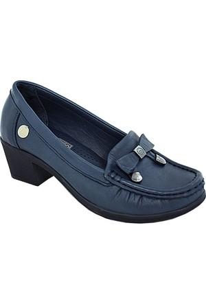 Mammamia D17Ya-280 Deri Kadın Günlük Ayakkabı Mavi