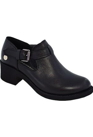 Mammamia D17Ya-475 Deri Kadın Ayakkabı Siyah