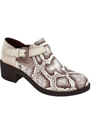 Mammamia D17Ya-475 Deri Kadın Ayakkabı Bej