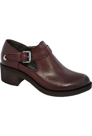 Mammamia D17Ya-475 Deri Kadın Ayakkabı Bordo