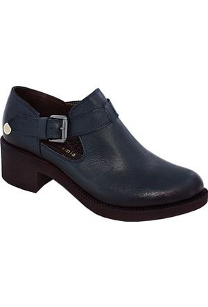 Mammamia D17Ya-475 Deri Kadın Ayakkabı Mavi