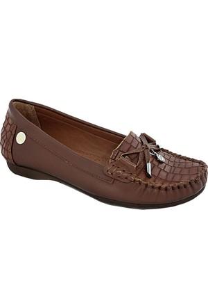 Mammamia D17Ya-700 Deri Kadın Ayakkabı Taba