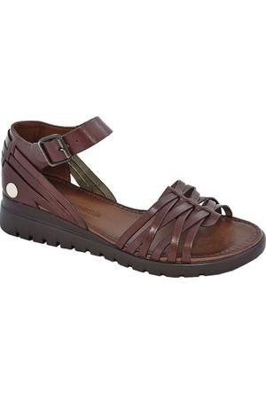 Mammamia D17Ys-1065 Deri Kadın Sandalet Kahverengi