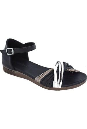 Mammamia D17Ys-1685 Deri Kadın Sandalet Siyah